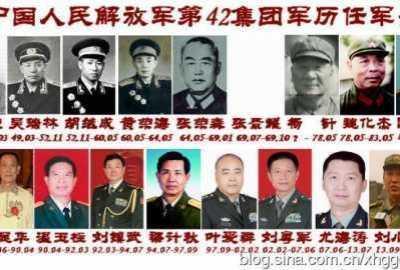 42集团军军长 中国人民解放军第42集团军及历任军长
