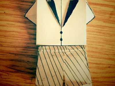衣服折法 可爱的折纸小衣服4-
